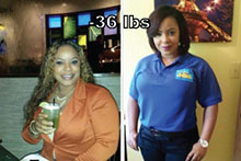 Liza lost 36 lb on lida